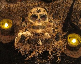 Paper mache Halloween Skull Island