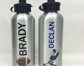 Custom Printed Water Bottle,Sports Bottle,Custom Water Bottle,Personalized Water Bottle,Aluminum Water Bottle,Football Water Bottle