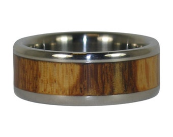 Marble Wood Titanium Ring