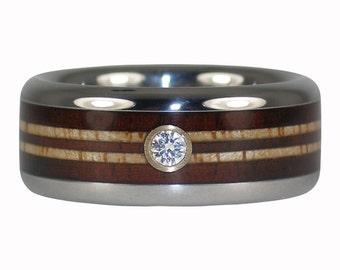 Wood Longboard Diamond Ring for Surfers