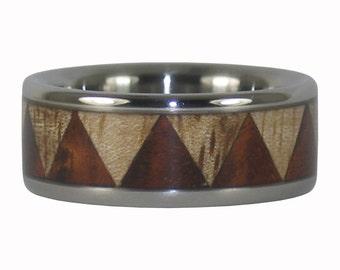 Tribal Design Wood Ring
