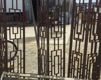 Rare mid century cast iron carport or porch rails.
