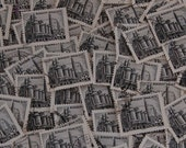 100 Polish 45 Gr Stamps Lot Black 503  Used 1951 Nowa Huta Steelworks