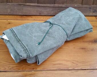 Vintage Olive Green US Army Half Shelter World War II