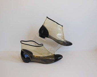 1960s boots / Gogo Gidget Vintage 60's Clear Boots