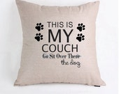This is my couch dog themed Pillow Cover Pillow Case