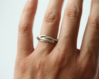 Sterling Silver Ring Organic Ring Root Ring Free form Ring Unique Ring Nature Ring Handmade Ring One Of A Kind Ring