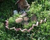 Fairy Garden Cedar Split Rail Fence Gnome Pixie Dollhouse
