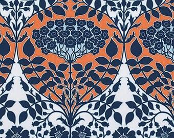 Free Spirit Joel Dewberry Botanique Leafy Damask PWJD088 Apricot By The Yard