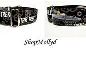 Star Trek Martingale, Martingale Collar, greyhound martingale, galgo collar, sighthound collar,wolfhound collar, 2 in martingale, saluki
