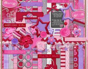 All American Girl Experience Digital Scrapbook Kit