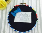 """She Believed She Could Rainbow Hoop Art 5"""""""