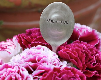 Bountiful Grateful Silverware Marker (E0523) // home decor // plant marker // thanksgiving gifts // thank you gifts // stocking stuffers