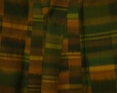 Vintage kimono S13, green gold kimono, silk, awase