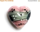 ON SALE 60% OFF New! Handmade Glass Lampwork Bead - 11836005 Princess Party Heart