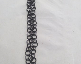 Black and Gray Chain Link Bracelet.