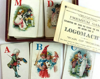 Antique Logomachy Game War of Words 1889