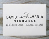 Address Stamp, Return Address Stamp, Self Inking Address Stamp, Self Inking Return Address Stamp, Wedding Gift, Personalized Gift - 1020