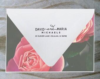 Address Stamp, Return Address Stamp, Self Inking Address Stamp, Self Inking Return Address Stamp, Wedding Gift, Personalized Gift - 1020