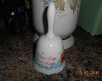 1982 Christmas Silent Night Holy Night Porcelain Bell