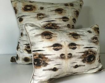 Birch Bark Decorative Throw Pillow and Insert