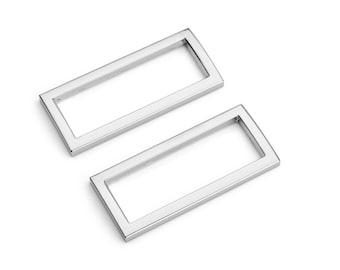 "10pcs - 1 1/2"" (38mm) Flat Zinc Square Ring - Nickel - (FSR-116) - Free Shipping"