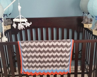 Chevron Baby Blanket--Made to Order