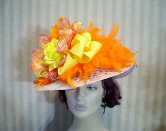 Kentucky Derby Hat Preakness Hat Easter Hat Tea party Hat Ascot Hat SASS Hat Church Hat By Ms.Purdy