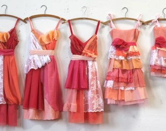 Custom Bright Pink Bridesmaids Dresses