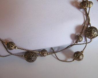 3 strand filgree necklace