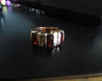 garnet red ring
