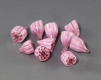 Handmade Lampwork flower murrini for bead by Ikuyo SRA