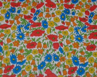 Liberty Tana Lawn fabric Poppies and Daisies  Fat Eighth Tissu Liberty
