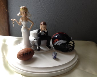 wedding cake toppers denver co packers cake topper etsy 26450