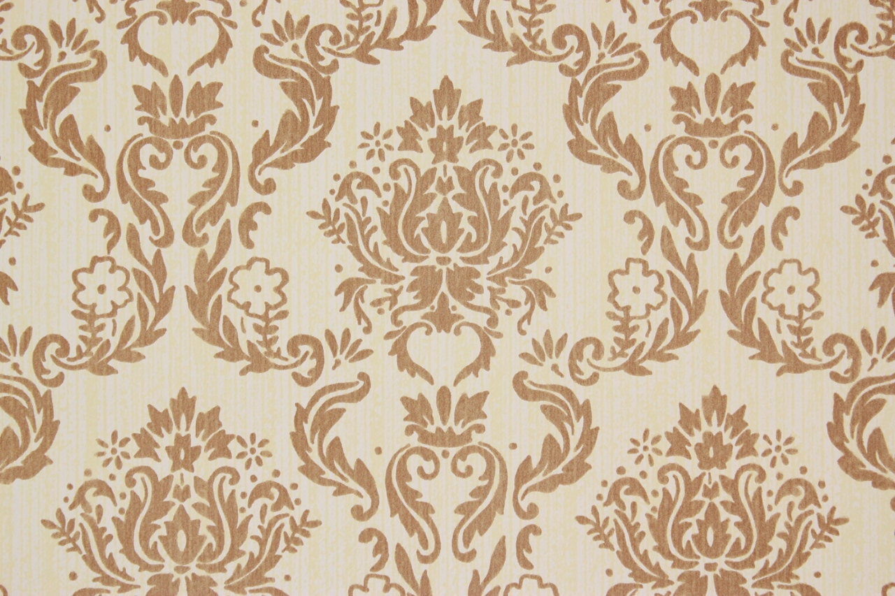 brown on brown damask wallpaper - photo #4