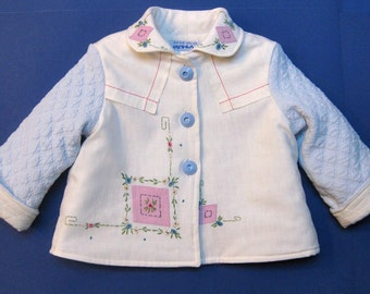 Size 2 Baby Girl Embroidered Jacket Coat