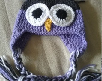 Crocheted Owl Hat (6-12 months)
