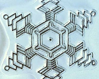 Snowflake 2015 clear stamp, unmounted, art stamp