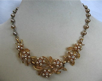 Vintage Coro Pearl Necklace