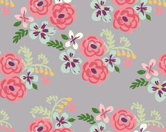 Flora - Bloom by Monaluna Organic Fabric -  100% Organic Cotton Poplin BL-08-BLT