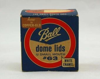 Ball Dome Lids for Small Mouth Jars - Copper-Glo #63 in Original Box