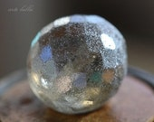 10% off SILVER FROST PLUMPS .. 2 Premium Czech Faceted Glass Beads 18mm (3012-2)