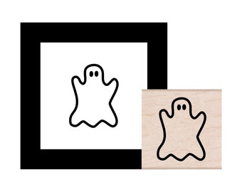 NEW for 2016 Halloween Ghost Rubber Stamp