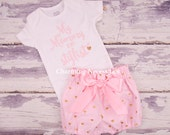 Toddler Girl Clothes, Baby Girl Outfits, Baby Girl Bloomers, My Mommy is My Stylist Trendy Glitter Shirt and High Waist Bloomers