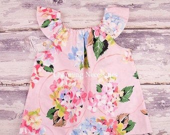 SALE Flutter Top, Baby Girl, Toddler Girl Clothes, Baby Girl Clothes, Delightful Pink by Charming Necessities