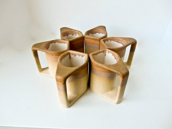 Mid Century Modern Coffee Mugs Cups Padilla Signed By