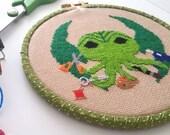 PDF Cross Stitch Pattern  Arts and Craftsthulhu  original design Cthulhu HP Lovecraft Maker Fan Art