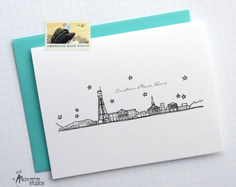 Generic City - City Skyline Series - Folded Cards (6)