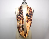 In Stock - Custom Bee Hive Infinity Scarf - Soft Knit Fabric Busy Honeybees - Bee Scarf
