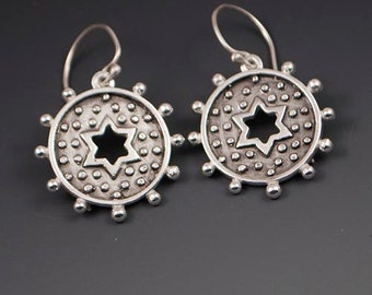 Dotted Star Earrings